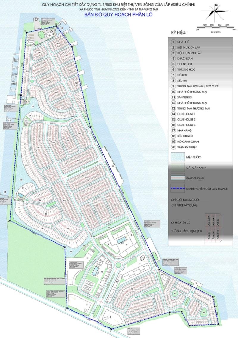 Mặt bằng tổng thể dự án Marine City