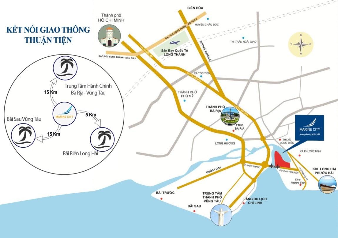 Vị trí dự án Marine City