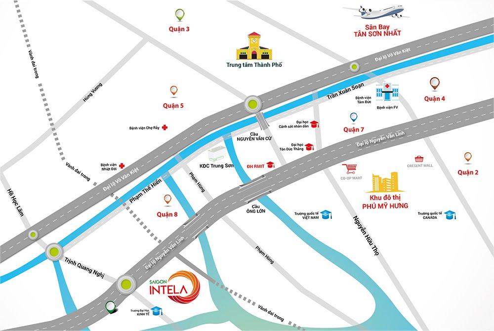 Vị trí dự án Saigon Intela